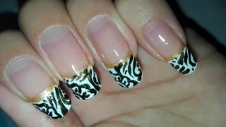 Easy DIY Henna Inspired Nail Art Tutorial: No Tools French Nail Art Design