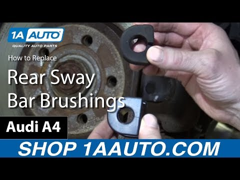 How to Install Replace Rear Sway Bar Bushings 2002-08 Audi A4 S4