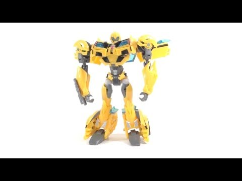 Video Review of the Transformers Prime; Bumblebee figure