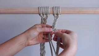 DIY Macrame Tutorial - 3-Strand & 4-Strand Braids!