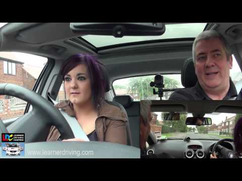 Claire's 4th driving lesson - 6 Hazard drill and basic junctions (T&Y)