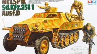 Tamiya 1/35 Scale German Halftrack Mtl.SPW Sd kfz 251/1 Ausf D Assembly