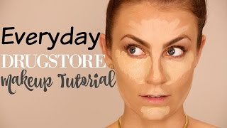 Full Face Drugstore Everyday Makeup Tutorial | Angela Lanter