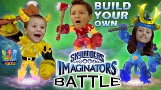 "Skylanders Imaginators Battle w/ Sky Kids! ""Create-Your-Own"" Duel! (Creation Crystal Challenge)"