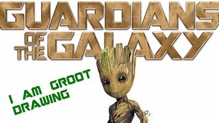 How To Draw Groot Easy Baby Groot Drawing I Am Groot! Guardians of the Galaxy