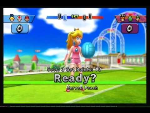 Mario Sports Mix Volleyball Peach Toad Amp Mario V S