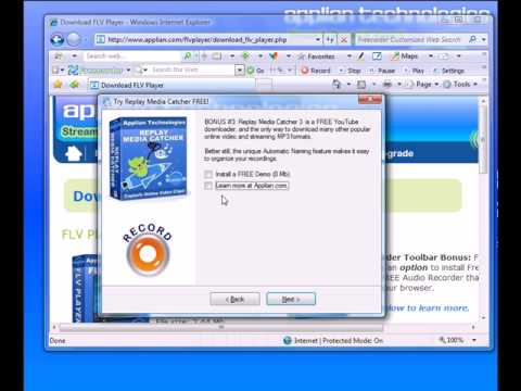 How to play an FLV (Flash Video)  file using the FREE Applian Technoligies Free FLV Player