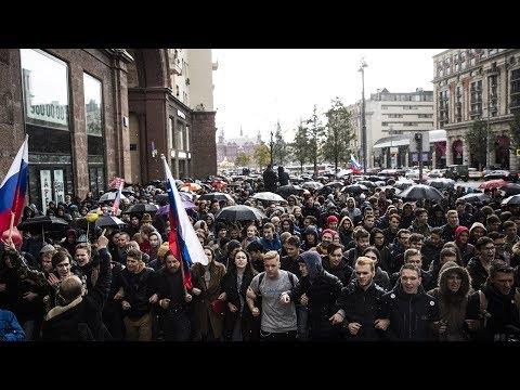 Митинги 7 октября за Навального   Полный обзор   Острый угол
