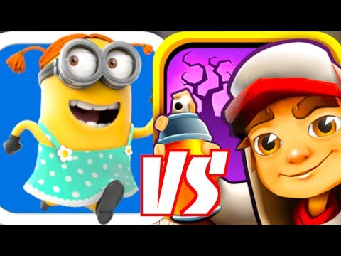 DESPICABLE ME: MINION RUSH VS SUBWAY SURFERS!!!