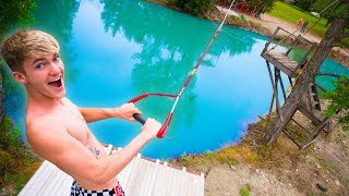 INSANE HOMEMADE ROPE SWING!! *LAUNCHED*