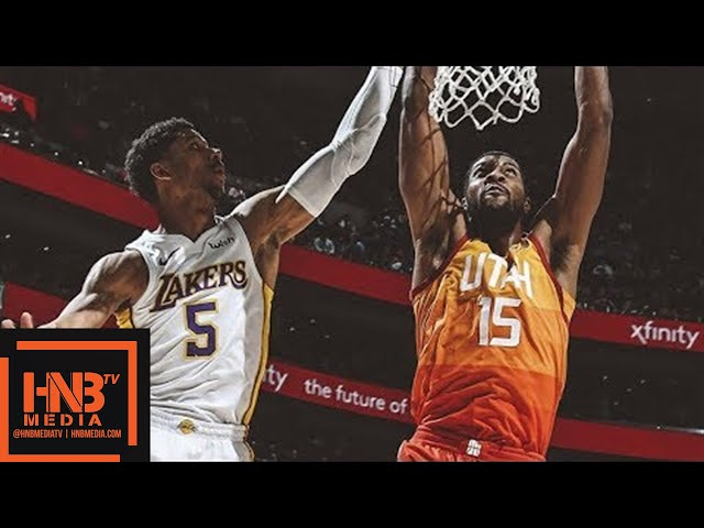 Los Angeles Lakers vs Utah Jazz Full Game Highlights / April 3 / 2017-18 NBA Season