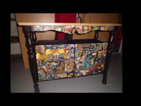 Wie Bastel ich mir, einen kleinen Tisch mit Aufbewahrungs Boxen für Nerds, Gamer und Otakus Teil 1