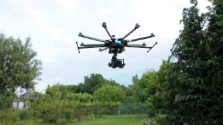 Zero UAV YS-X4 on tarot X8 octocopter oscilations only on atti/GPS mode