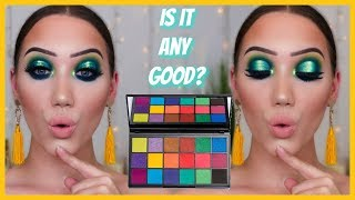 TESTING THE NEW TAMMI x MAKEUP REVOLUTION TROPICAL CARNIVAL PALETTE | MAKEMEUPMISSA