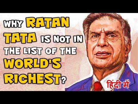 Ratan Tata - रिच होते हुए भी रिच लोगों की लिस्ट में नहीं...Great Indian