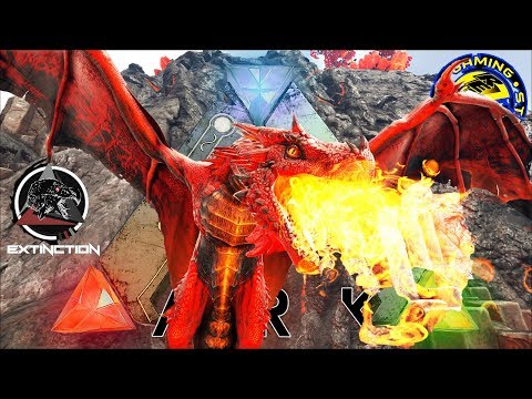 ARK: SURVIVAL EVOLVED: ALPHA FIRE WYVERN BUILDING A POWER HOUSE![RePuG  EXTINCTION CORE MODDED EP23] ...