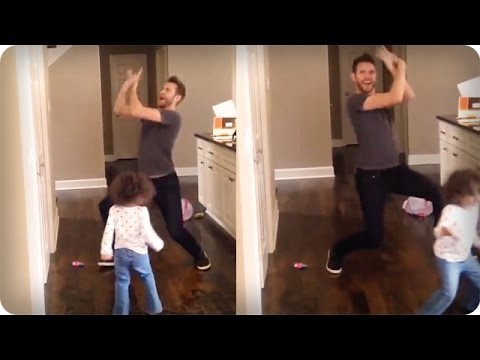 Dad daughter Little Einstein Dance Remix (hilarious) video