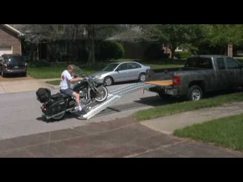 Loading Road King with Big Boy Ramp