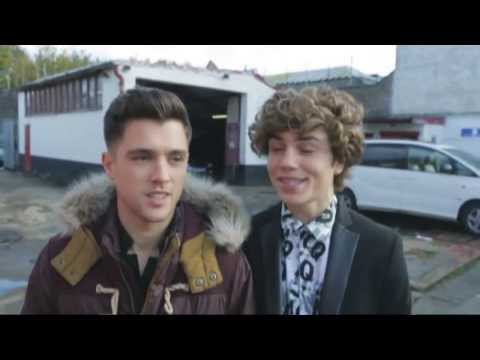 Union J: Behind-the-scenes of Loving You Is Easy the boys act like headbanging rockstars