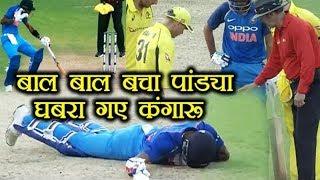 Download India Vs Australia 2nd ODI: Hardik Pandya hit by ball 3Gp Mp4