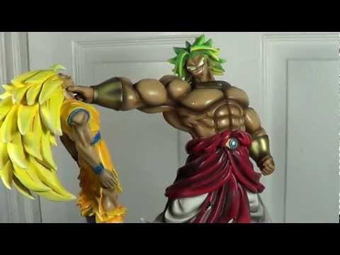 Son Goku Vs Broly Custom Diorama Dragon Ball Statue video