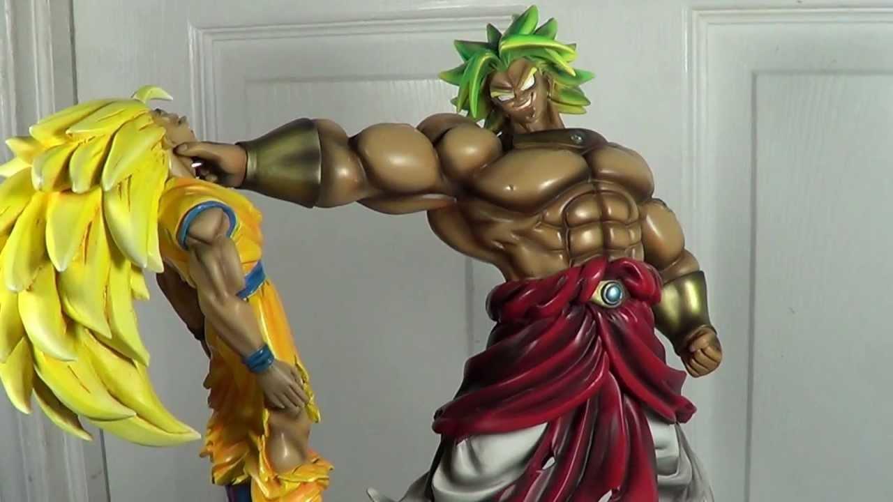 son goku broly custom diorama dragon ball statue youtube