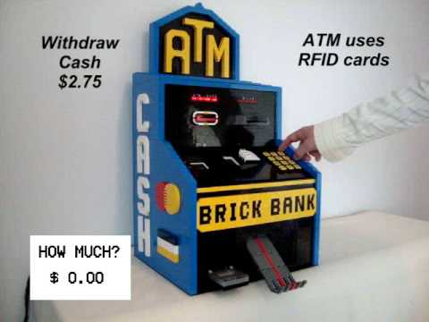 Lego NXT ATM Machine with Change Maker