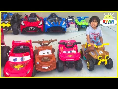Ryan's Power Wheels Collections Ride on Kids Car!!!