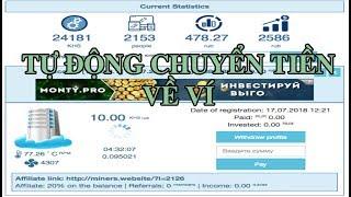 Web đào tiền ảo tự động đào Rub chỉ cần nhập địa chỉ ví thanh toán tự động về ví