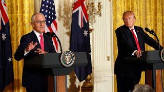Malcolm Turnbull dodges gun control advice at Donald Trump meeting