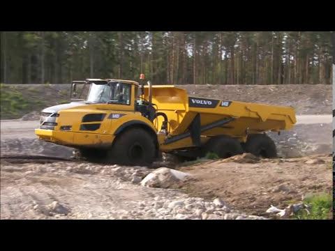 Volvo Articulated Hauler (dump trucks) F-Series A25F, A30F, A35F, A40F walk-around video - YouTube