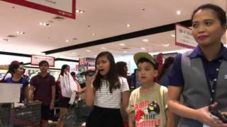 Saw this child Singing at SM Department Store Sta Rosa earlier