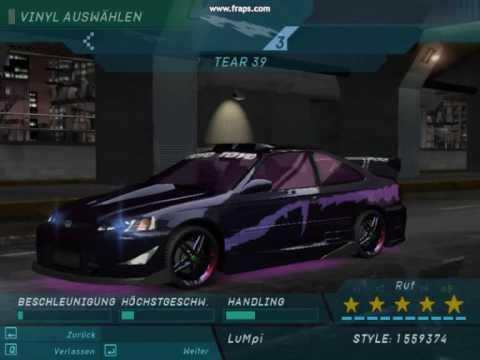 Need For Speed Underground 1 Civic Tuning Youtube
