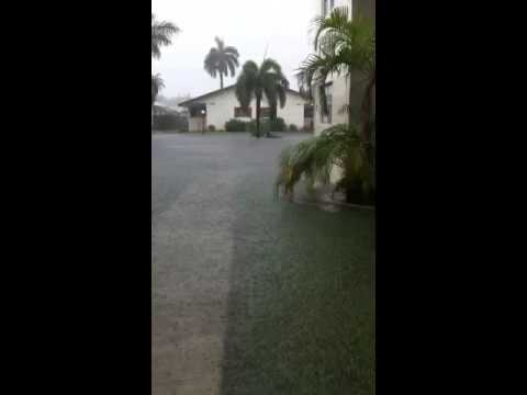 Flooding in Hallandale Fl from tropical storm Andrea.