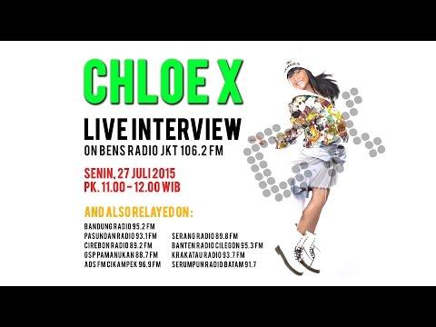 ChloeX Live Interview on Bens Radio Jakarta 106.2 FM