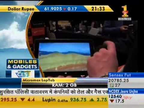 12Jan14 Micromax LapTab Mobiles & Gadgets Zee Business