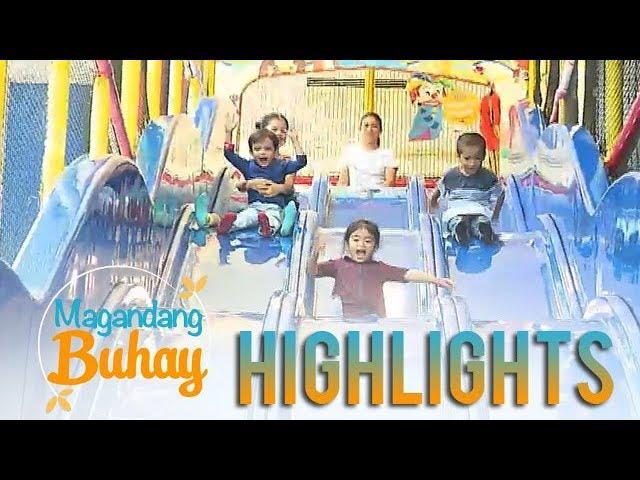 Magandang Buhay: Xia, Carlo, Pele and Mela enjoy the Active Fun playroom
