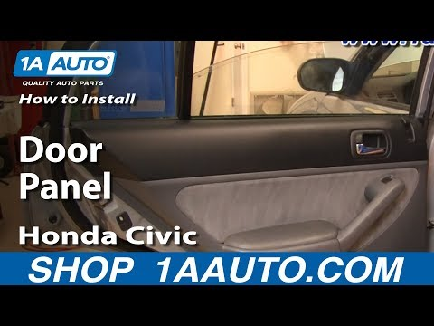 How to Install Replace Remove Rear Door Panel Honda Civic 01-05 1AAuto.com
