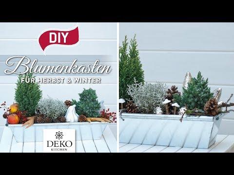 DIY: Blumenkästen Für Herbst & Winter Dekorieren [How To] Deko Kitchen