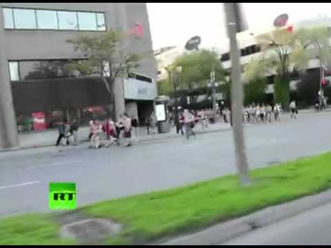Naked students protest in Montreal