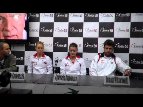 Agnieszka Radwanska's Shortest press conference ever - FedCup 2013 in Israel