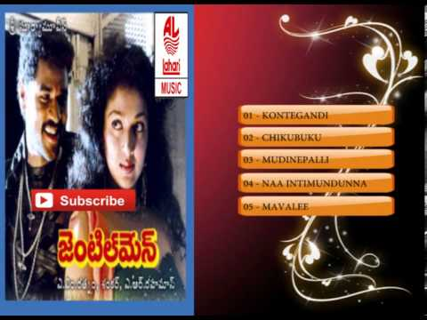 Telugu Old Songs | Gentleman Telugu Movie Songs | Karaoke video