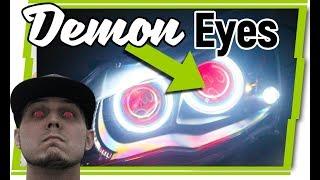 Demon Eyes - Evan Shanks' new Evo X Headlights