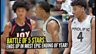 WILDEST ENDING OF THE YEAR! 5 ⭐ Jalen Green & Nimari Burnett vs 5 ⭐ Marjon Beauchamp BATTLE IT OUT!