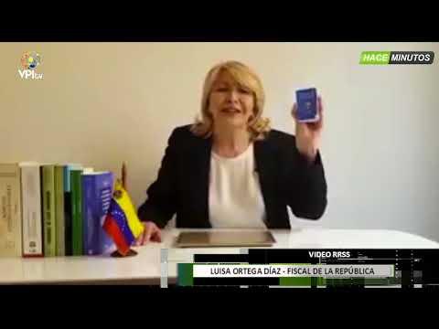 Venezuela. Fiscal Luisa Ortega Díaz se pronunció sobre el caso Óscar Pérez -VPItv