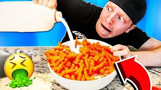 TRYING GROSS FOOD COMBINATIONS THAT PEOPLE LOVE!