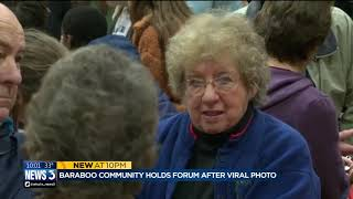 Baraboo holds community forum to brainstorm path forward after viral photo