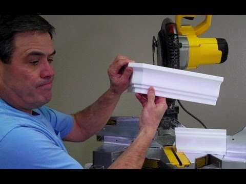 How To Cut A Crown Molding Outside Bull Nose Corner By