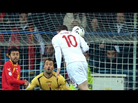 Wayne Rooney goal, Montenegro vs England 1-1 World Cup Qualifier