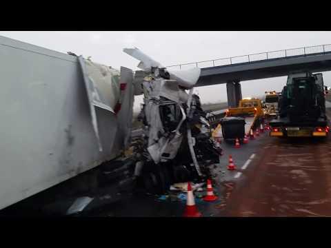 Wypadek TIR Autostrada A2 Accident